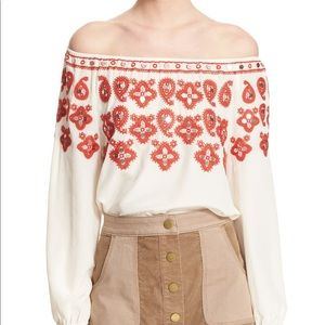 TORY BURCH Leyla embroidered silk blouse